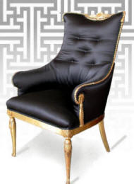 French gilded chair